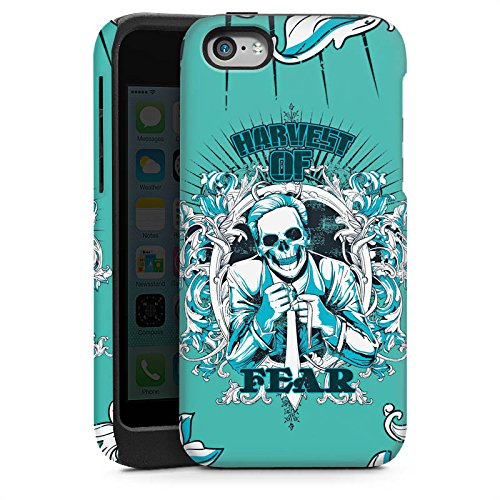 Apple iPhone 4 Housse Étui Silicone Coque Protection Mort Faucheur Fear peur Cas Tough brillant