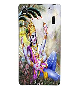 ColourCraft Lord Vishnu Design Back Case Cover for LENOVO A7000 TURBO