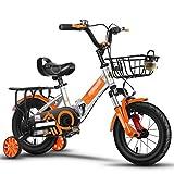 Vélos enfants et Accessoires Vélos pour Enfants Folding Boy Stroller Girl Pédale Vélo De Voyage Extérieur Vélo Pliant Réglable Hauteur Shock Absorber Vélo (Color : Orange, Size : 20inches)