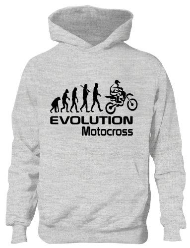 Motocross Evolution Motorrad Jungen/Mädchen Hoodie, Alter 5-10 (Sweatshirt Motorrad-kinder)