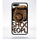 Générique Coque i Shoot People Compatible Apple iphone 7 Plus Bord Noir