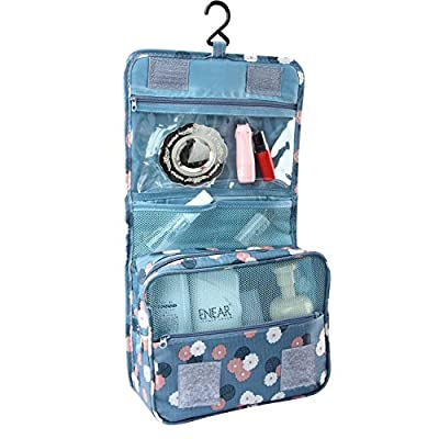 BlueBeach® Travel Toiletry Bag / Portable Makeup Cosmetic Organiser / Hanging Bathroom Cosmetic Case and Grooming Kit Storage