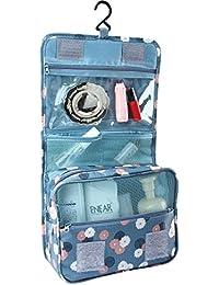 BlueBeach® Viaggi toilette Borsa / trucco cosmetico portatile Organizzatore e rasatura Kit uomini / caso cosmetico Hanging Bagno e Grooming Kit bagagli