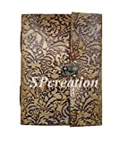 #6: SPcreation Leather Flower Emboss Handmade Diary(12.7cm x 17.78 cm)(180 pages)