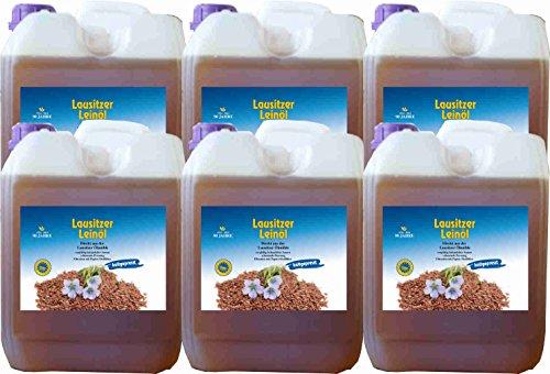 Hoyo Technology GmbH Leinöl 30 Liter (6 X5 Liter) Lausitzer kaltgepresst ohne Konservierungsstoffe