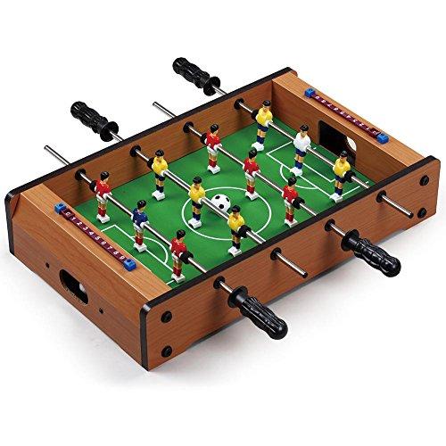 Vetrineinrete Calcio balilla in legno da tavolo calcetto biliardino giochi per bambini 51x31x10 cm salva-spazio senza piedi calciobalilla P25
