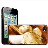 Fancy A Snuggle Hartschale für Apple iPhone 4 / 4s (aufsteckbar) Nahaufnahme von Dekoengel für Weihnachtsbaum