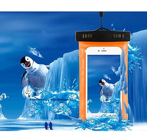 Universal Transparent Wasserdicht Tasche Tasche Dry Schutzhülle für Handy iPhone 456Plus Samsung Galaxy S5S6Edge Note 3HTC M8M9LG G3G4, Orange