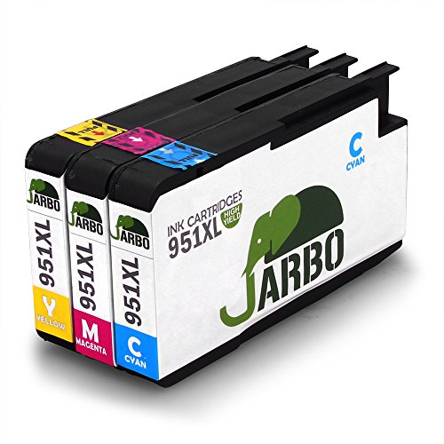 JARBO Compatibles HP 951 XL Cartouche d'encre (1 Cyan,1 Magenta,1 Jaune) Grande capacité Compatible avec HP Officejet Pro 8600 8610 8620 8630 8640 8660 8615 8625 8100 251dw 271dw Imprimante
