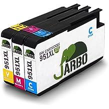 JARBO (1 Cian, 1 Magenta, 1 Amarillo) Reemplazar por HP 950 XL 951 XL Cartuchos de tinta gran capacidad para HP Officejet Pro 8600 8610 8620 8630 8640 8660 8615 8625 8100 251dw 271dw Impresora