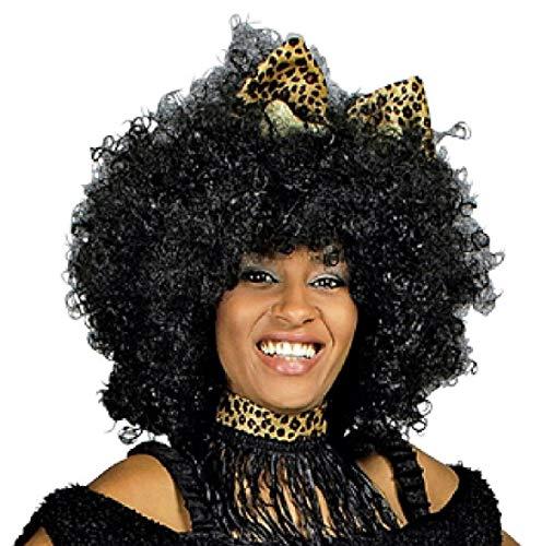 T2747 schwarz Damen Herren Supper XL Afro-Hippie Perücke Jimmy (Zulu Krieger Kostüm Herren)