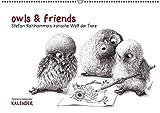 owls & friends Immerwährender Kalender (Wandkalender immerwährend DIN A2 quer): Stefan Kahlhammers fabelhafte Tierwelt (Monatskalender, 14 Seiten) (CALVENDO Spass)