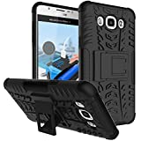 Dream2cool FOR Samsung Galaxy J7(6) 2016 J710 Tough Hybrid Flip Kick Stand Spider Hard Dual Shock Proof Rugged Armor Bumper Back Case Cover For Samsung Galaxy J7(6) 2016 J710 (BLACK)