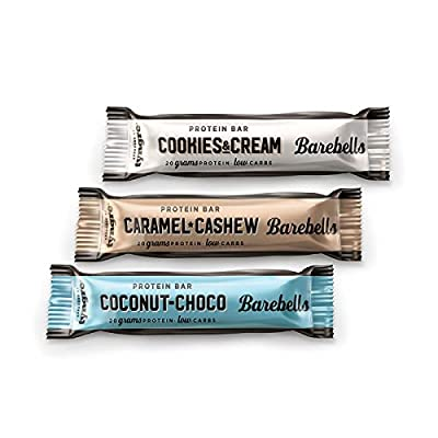 Barebells Protein Bar 55g (Caramel & Cashew, Cookies & Cream, Chocolate & Coconut) by Barebells