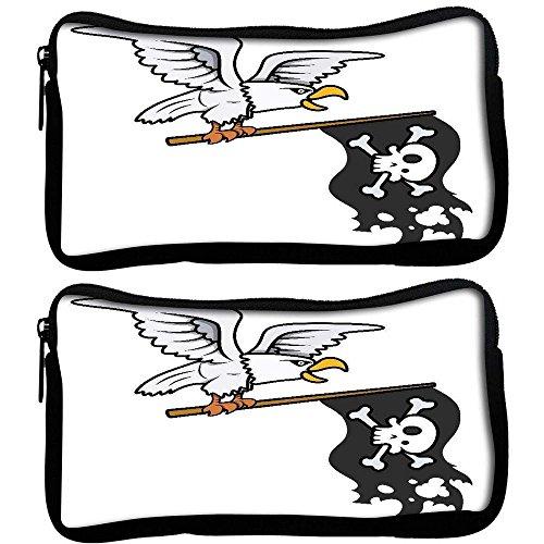 Snoogg Confezione da 2Aquila holding bandiera pirata