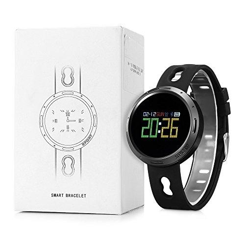 Nacatin Orologi Sportivi con Cardiofrequenzimetro Activity, Smart Watch Bluetooth 4.0, IP68 Impermeabile, Donna e Uomo Watch con Monitoraggio del Sonno e Promemoria Sedentario (Nero)