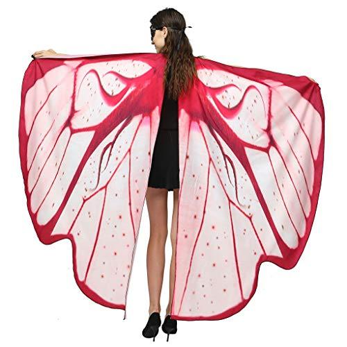 Pocahontas Kostüm Selbstgemacht - iYmitz Damen Schmetterlingsflügel Kostüm Schmetterling Schal Flügel Tuch Erwachsene Poncho Umhang für Party Weihnachten Kostüm Cosplay Karneval Fasching Kostümzubehör(168 * 135cm)