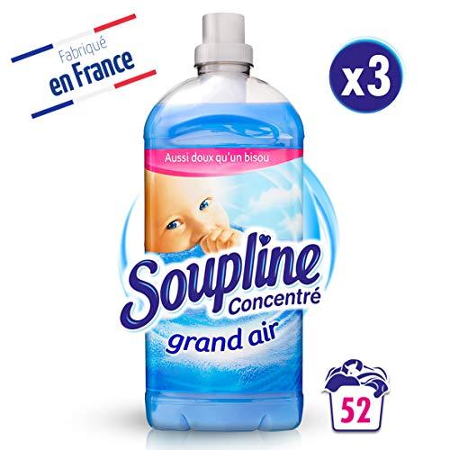 Soupline Concentré Grand Air 1,3L- Lot de 3- Adoucissant/ Assouplissant, en complément de votre lessive