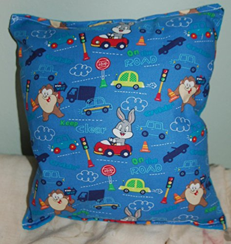taz-pillow-bugs-bunny-pillow-warner-brothers-pillow-bugs-wb-pillow-handmade-pillow-made-in-usa