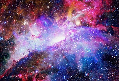 EdCott Galaxie und Nebel Fotografie Kulissen für Studio 10x6.5ft Studio Hintergrund Hintergrundbild Möbliert Raum Himmel Nacht Wissenschaft Teleskop Shiny Star Light Glow Planet - Textur-nebel