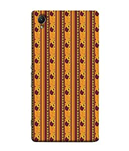 PrintVisa Designer Back Case Cover for Sony Xperia Z3+ :: Sony Xperia Z3 Plus :: Sony Xperia Z3+ dual :: Sony Xperia Z3 Plus E6533 E6553 :: Sony Xperia Z4 (Orange curtain style traditional design)