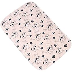 Smandy Pet Pee Pad, 3 Tamaños Reutilizable Impermeable Cachorro Perro Gato Pee Pads Cama Alfombra Lavable Absorbente Mascota Trainging Pads Orina de Perro(40×60cm)