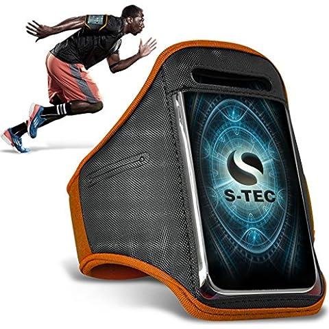 HTC REZOUND Armbands - ( Orange ) Universal Sports Running Action Mobile Phone Armband Holder ( HTC REZOUND fasce da braccio - ( arancione ) Sport universale in esecuzione azione cellulare titolare con fascia da braccio )