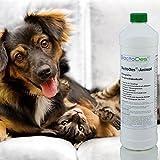 BactoDes Animal -1 Liter Geruchsentferner, Geruchskiller-Konzentrat zum Verdünnen (mind. 2L Gebrauchslösung) – inkl. Mischflasche – beseitigt Tieruringeruch, Katzenuringeruch, Tiergeruch, Katzenurin, Hundeurin, Kleintiergeruch, dauerhaft – ein echter Geruchsvernichter für die dauerhafte Geruchsbeseitigung - 5