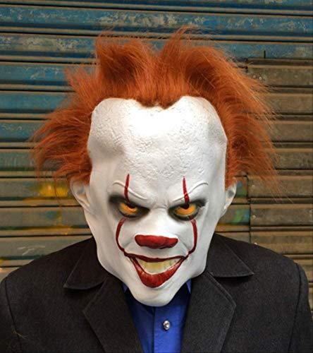 Stephen King Clown Kostüm - WSCOLL Clown Stephen King 's It Cosplay Kostüm Pennywise Kostüm Erwachsene Männer Frauen Kostüm Fancy Halloween Outfit Anzug Clown-Kostüm, Only Wig, M