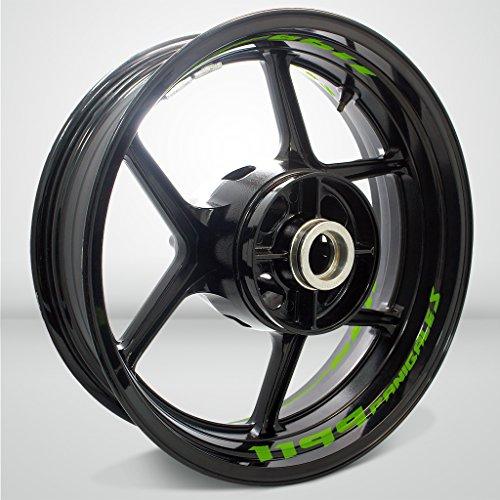 Preisvergleich Produktbild Matt Grün Motorrad Inner Rim Tape Decal Aufkleber für Ducati 1199 Panigale S