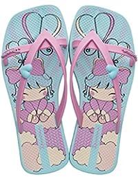 Raider Fashion Kirey - Chanclas infantil, color azul / rosa