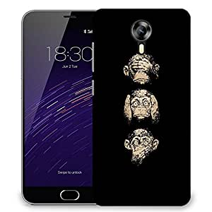 Snoogg Gandhiji'S Three Monkey Designer Protective Back Case Cover For Meizu M3 Note