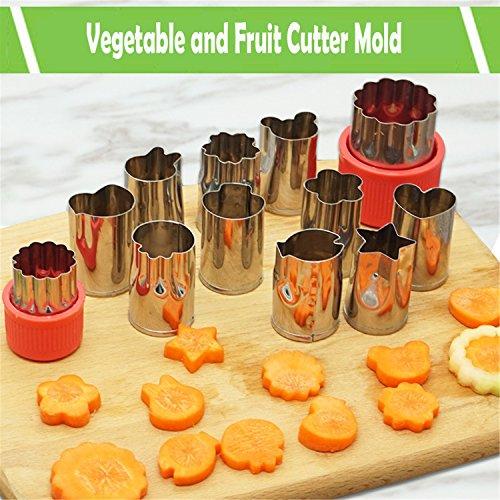 Edelstahl Keks-Ausstecher Ausstechformen Set - Plätzchen Obst Gemüse Cutter Mould für Damen und Kinder Erstellen und Dekorieren Schön Essen (Gesunde Snacks Halloween Party)