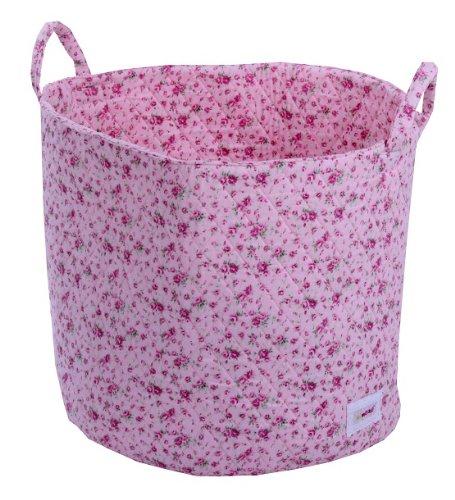 Minene 1530 Aufbewahrungskorb, groß, rosa mit Blumen