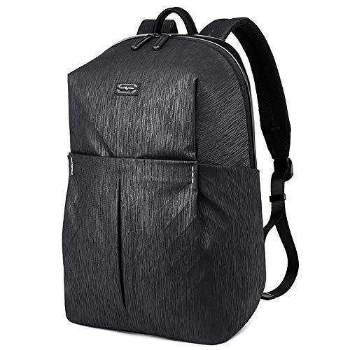 Laptop Rucksack, Laikwan Business Tasche, Daypack Schulrucksack für Damen Herren und Teenager Für 15-Zoll-Notebooks(schwarz) (Fern-panel)