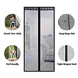 ZFHTAO Tenda Magnetica per Porte Tenda Zanzariera Rete di Ottima qualità per Porte Finestre Cortili - 150x210cm(59x83inch)