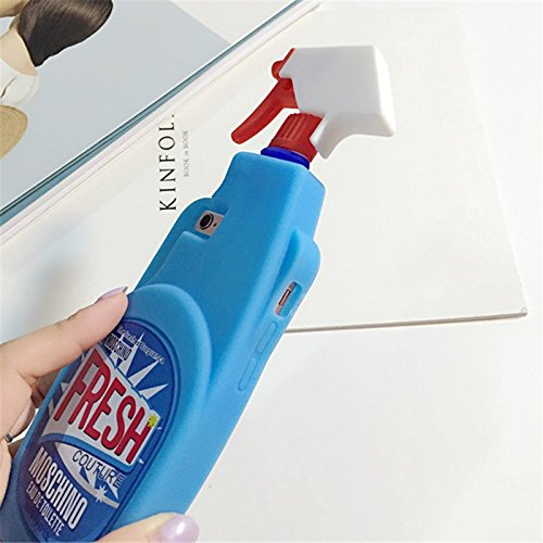 WARRAH iPhone 6 6S Case,3D Cute Lovely Cartoon Series Silicone Soft Case Cover for iPhone 6 6S (Boys Tears Bottles) Fresh