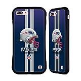 Official NFL Helmet New England Patriots Logo Hybrid Case Compatible for iPhone 7 Plus/iPhone 8 Plus