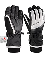 Andake Ski Gloves, 9 Styles for Choice, 3M Thinsulate Extremely Warm Winter Gloves, Breathable Waterproof Windproof Gloves,Great for Winter Ourdoor Activities