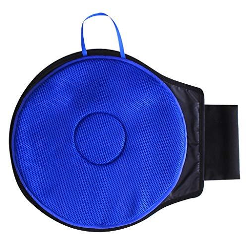 uto-Sitz-Schwenker-Drehendes Kissen-Mobilitätshilfe-Bewegliche Teile, Medizinisches Deluxes Gel-Schwenker-Sitz-Kissen Gekennzeichnet Mit Gedächtnis-Schaum (Blau) ()