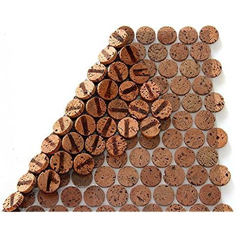 Corcho mosaico azulejos suelo de pared combinado 30cm x 30cm grosor 6mm maciza Tableros de corcho, para interiores y exteriores (2.
