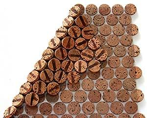Rivestimento da parete e pavimento, 30 cm x 30 cm, spessore 6 mm, in Sughero Massiccio, per interni ed esterni (2. scelta)