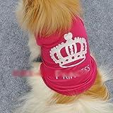 flyyfree New süsse Haustier Hund Prinzessin T shirt Kleidung Weste Sommer Mantel Welpen Kostüme Outfit (Größe: S)