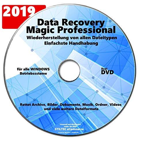 Data Recovery Professional 2019 -Datenverlust? Rettet Archive, Bilder, Dokumente, Musik, Ordner, Videos! Datensicherung,Datenrettungssoftware Datenwiederherstellung für Windows NEU+AKTUELL