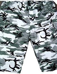 Homme Casual Cool Bleu Nuit Multi Poche Camouflage 3/4Short cargo New M L XL XXL 3X L 4X L 5X L