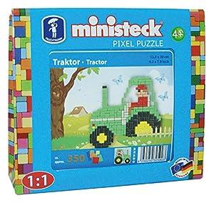 Ministeck 32590-Granja Tractor, steckplatte, Accesorios, Aprox. 300de Piezas