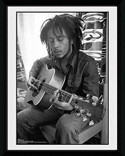 GB eye LTD, Bob Marley, Guitar, Fotografía enmarcada, 15 x 20 cm