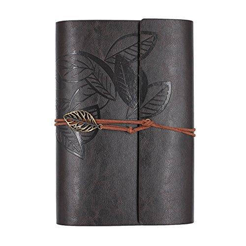 Zhi Jin Notizbuch A5, Tagebuch,Vintage, Ringbindung, Leder, nachfüllbar, gebunden coffee