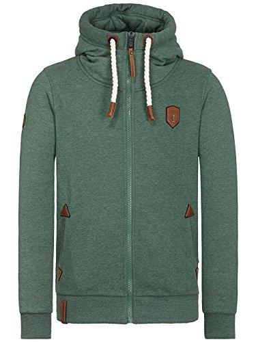 Naketano Male Zipped Jacket Schwarzkopf pine green melange