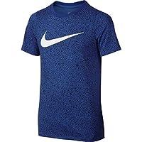 Nike B Nk Dry Tee Ss Camiseta de Manga Corta de Baloncesto, Niños, Azul (Game Royal), XL